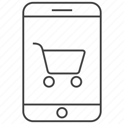 buy, cart, ecommerce, mobile, phone, shop, shopping icon