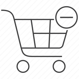 buy, cart, delete, from, minus, remove, shopping icon