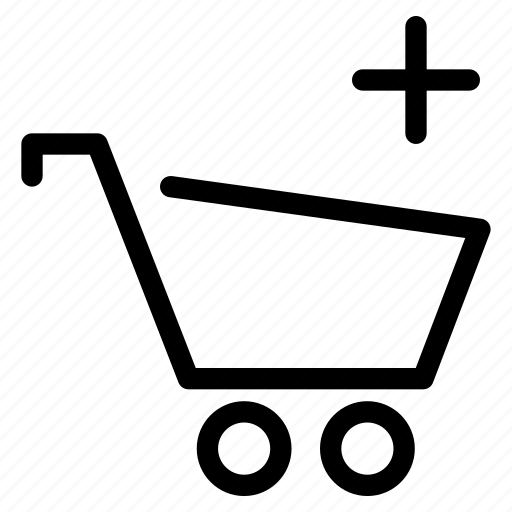 add, addition, cart, creative, ecommerce, extra, grid, line, new, online, plus, shape, shop, shopping, web-shop, wheel, wheels icon