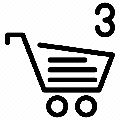 cart, cart-items, creative, ecommerce, grid, items, line, product, shape, shop, shopping icon