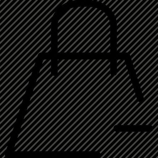 bag, close, creative, delete, drop, ecommerce, grid, line, minus, online, remove, remove-bag, shape, shop, shopping, trash, web-shop icon