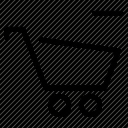 cart, close, creative, delete, drop, ecommerce, grid, line, minus, online, remove, remove-cart, shape, shop, shopping, trash, web-shop, wheel, wheels icon