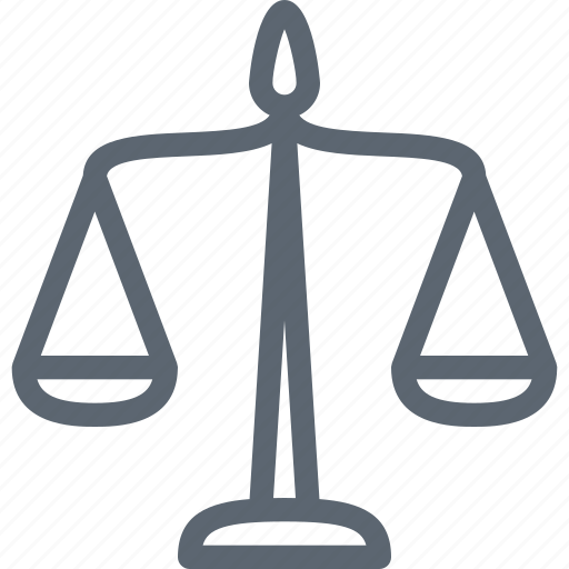 balance, justice, law, measure, tool icon
