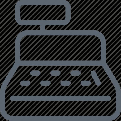 bill, cash, cashier, money, pay, register, registry icon