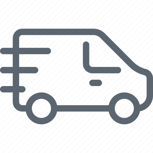 car, delivery, fast, shipping, shop, truck icon