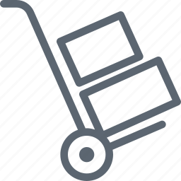 cart, delivery, hand, handle, shipping, shop, trolley icon