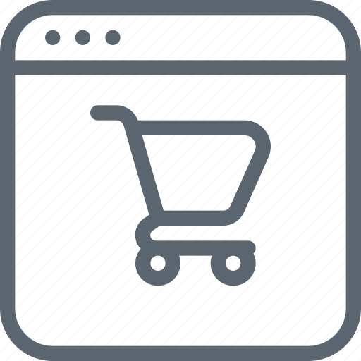application, commerce, computer, ecommerce, online, shop, shopping icon