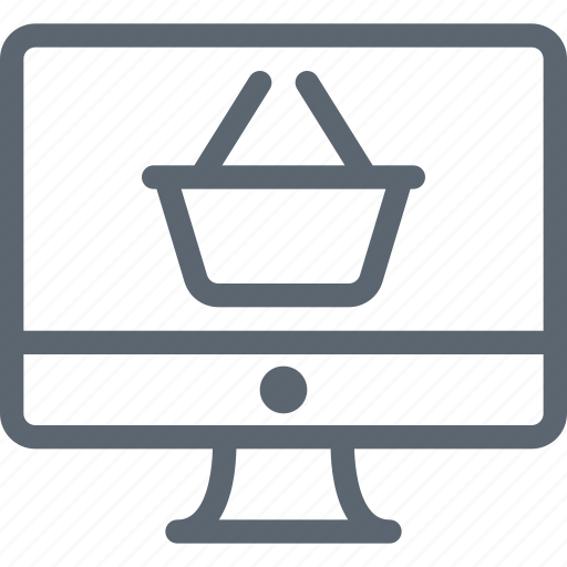 commerce, computer, ecommerce, monitor, online, shop, shopping icon