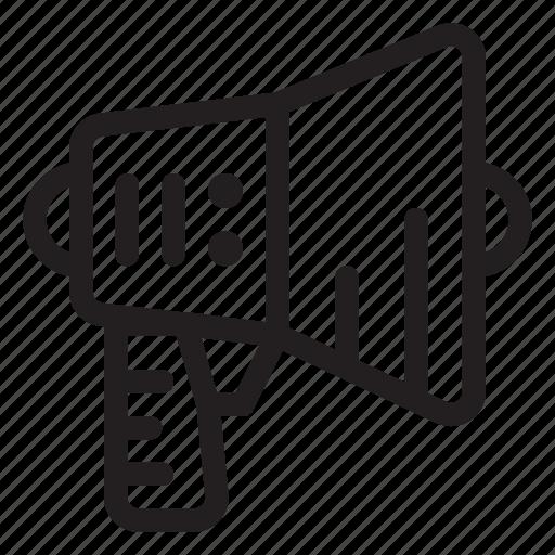 bullhorn, business, loud, marketing, megaphone, speaker icon