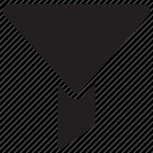 filter, funnel, marketing, sort icon