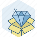 best, courier, diamond, prize, quality, shop icon