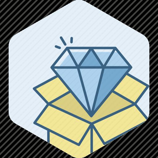 best, courier, diamond, prize, quality, shop icon