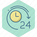 four, hours, time, twenty, timer, hour, clock icon