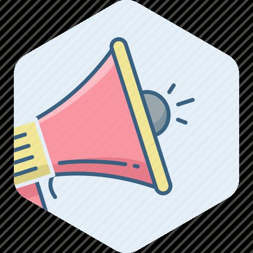 announce, audio, communication, media, megafone, music, sound icon