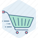 basket, big bazaar, buy, cart, ecommerce, store, trolley icon