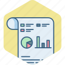 analytics, chart, graph, presentation, sheet, statistics icon