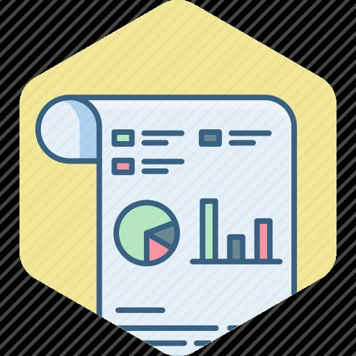 analytics, chart, graph, presentation, sheet, statistics icon