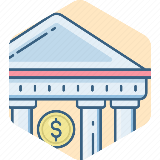bank, building, estate, house, institute, real, treasury icon