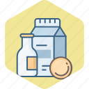 beverages, bottle, drink, milk icon