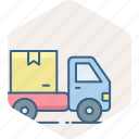 courier, delivery, free, shipping, transport icon