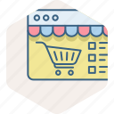 ecommerce, internet, online, shopping, web, website icon