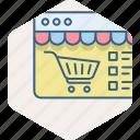 ecommerce, internet, online, shopping, web, website icon