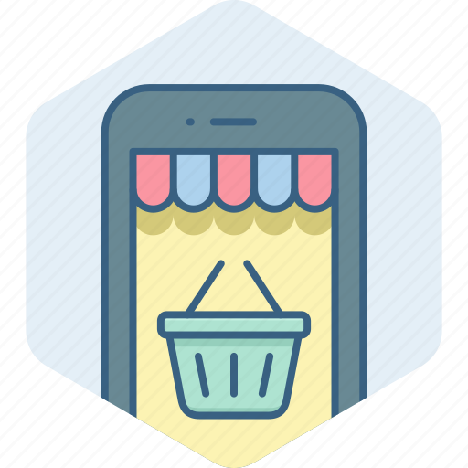 app, basket, cart, mobile, online, purchase, shopping icon