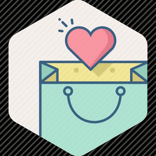 add, bag, heart, sale, shopping, wishlist icon