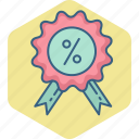 badge, discount, percent, percentage icon