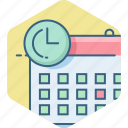 calc, calculation, calculator, date, duration, event, time icon
