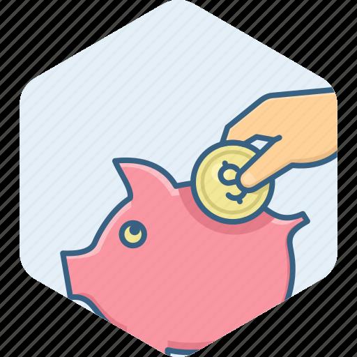 bank, budget, coins, guardar, invest, save, saving, savings icon