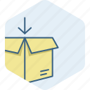box, courier, delivery, gift, package, parcel icon