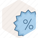 discount, ecommerce, percent, percentage, sale icon