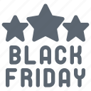 black friday, friday, star icon