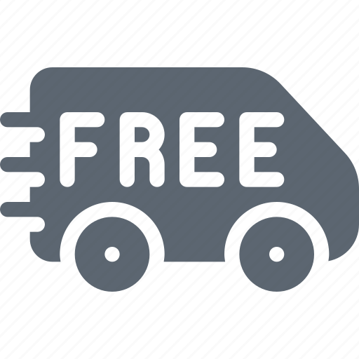 car, delivery, ecommerce, free, shipping, transport, truck icon