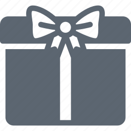 box, christmas, gift, package, present, ribbon, surprise icon