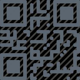 code, internet, online, qr icon