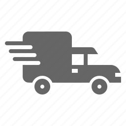 cargo, delivery, fast, shipping, transport, truck, van icon