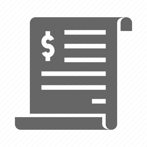 bill, expenditure, financial, invoice, purchase, report, statement icon