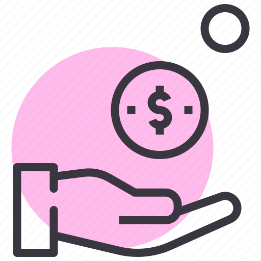 accept, change, coin, dollar, donate, pay, payment icon