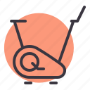 bike, cycling, exercise, fitness, gym, jogging, stationary icon