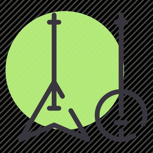 banjo, concert, electric, guitar, instrument, jazz, music icon