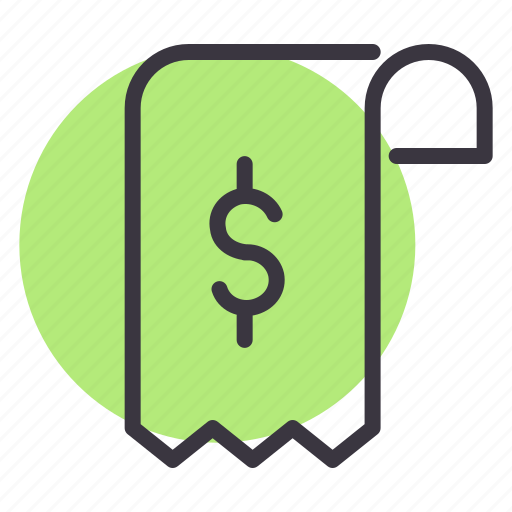 bill, check, cost, invoice, pay, purchase, shopping icon