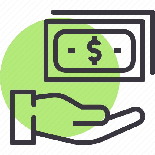 accept, cash, currency, donation, money, pay, payment icon