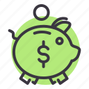 bank, banking, guardar, pig, piggy, save, savings icon