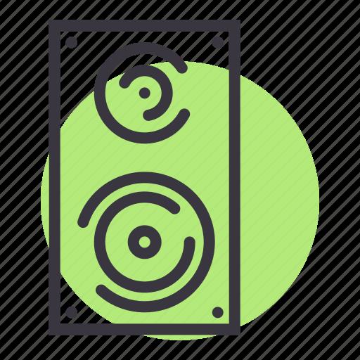 deejay, loud, music, noise, speaker, woofer icon