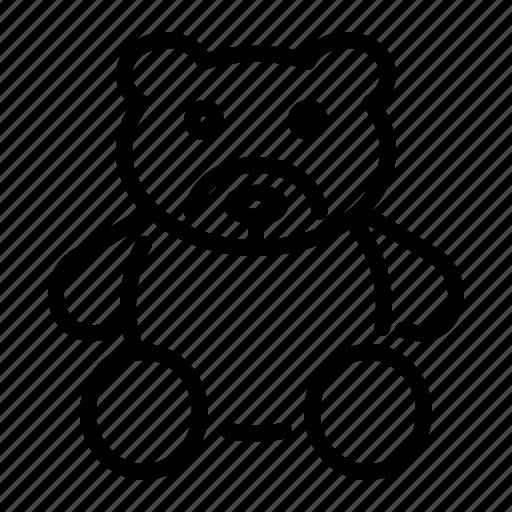 bear, cuddle, cute, kids, teddy, toy icon