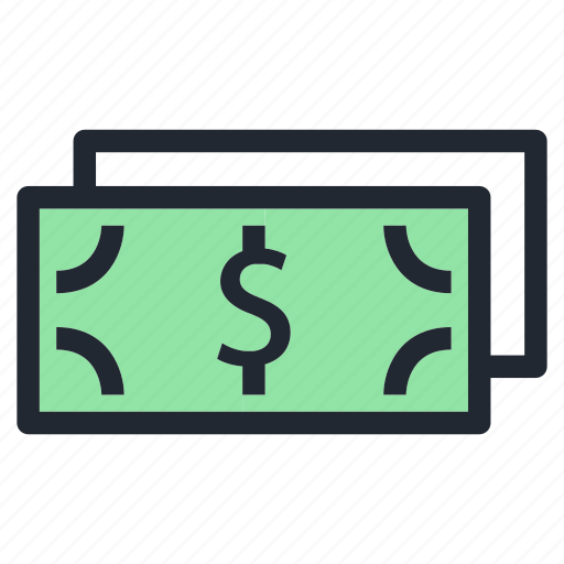 dollar, money, payment, shopping icon