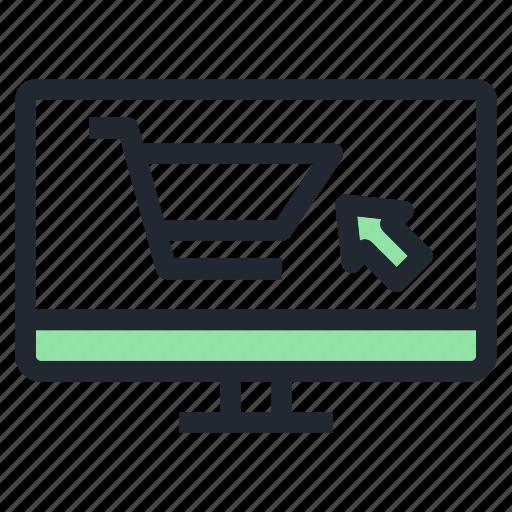 ecommerce, monitor, pc, shop, shopping icon