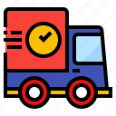 delivery, food, shipping, transport, truck icon
